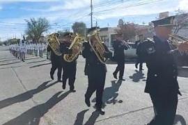 En el aniversario de la Escuela de Cadetes de Rawson sus alumnos recorrieron las calles