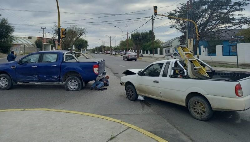 Camionetas colisionadas