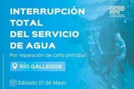Interrupción total del servicio de agua en Río Gallegos