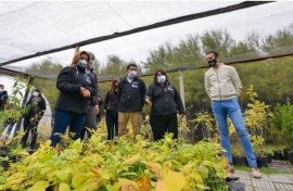 Maderna recorrió el renovado vivero municipal