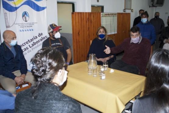 Fernando Cotillo recibió a funcionarios nacionales y acordaron avanzar en una agenda en común en Pesca Artesanal