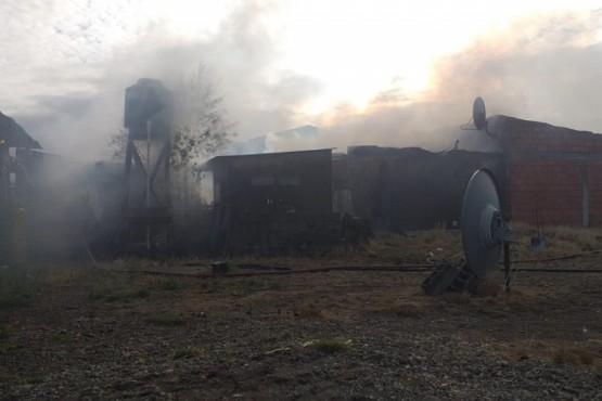 Vivienda incendiada (Foto: C.Robledo).