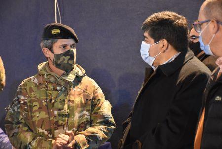 El Hospital Militar de Río Gallegos se encuentra atendiendo pacientes COVID en áreas de internación