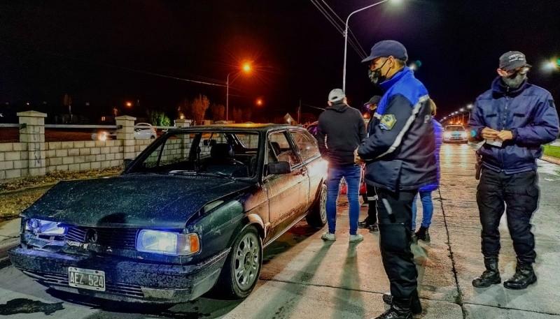Colisión sin heridos en Río Gallegos (Foto: C.G)