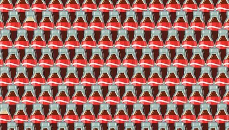 Reto viral: debes ubicar las 3 botellas que tienen menos refresco en la ilustración
