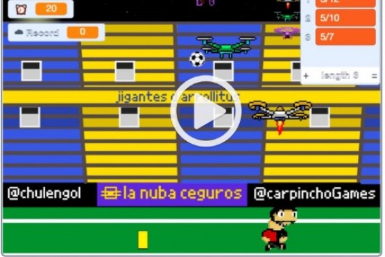 Crearon un videojuego en el que Pablo Pérez debe esquivar tarjetas amarillas y romper drones