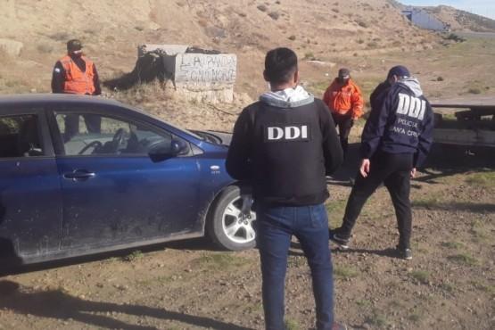 El rodado fue detenido en la rotonda de la Ruta N°12.