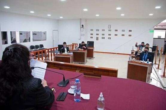 Sesión en el Concejo Deliberante.
