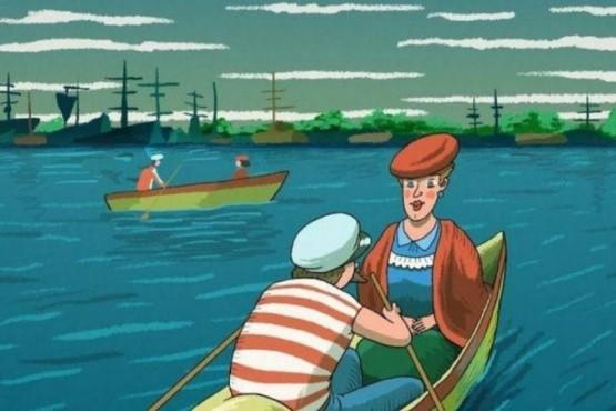 Ubica la cara oculta en el reto viral de las personas en el lago