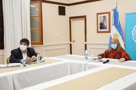 Alicia Kirchner participó del encuentro de gobernadores con autoridades de Salud de la Nación