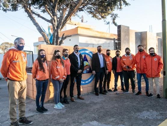 Quedó formalmente habilitada la base operativa de Protección Civil en Playa Unión