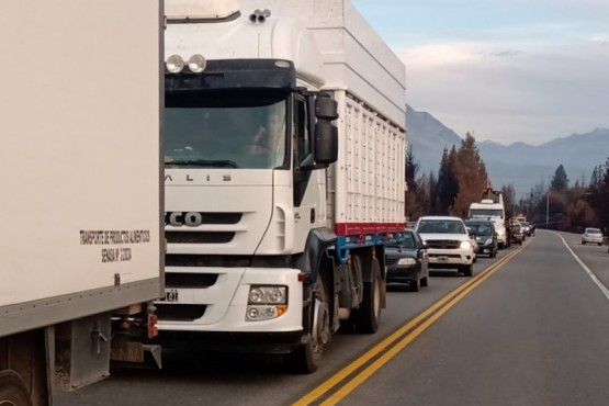 Comarca Andina - Manifestantes cortaron la ruta 40