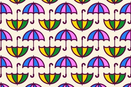 Ubica en 10 segundos los paraguas sin mago del reto viral