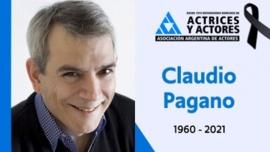 A los 61 años murió el actor Claudio Pagano