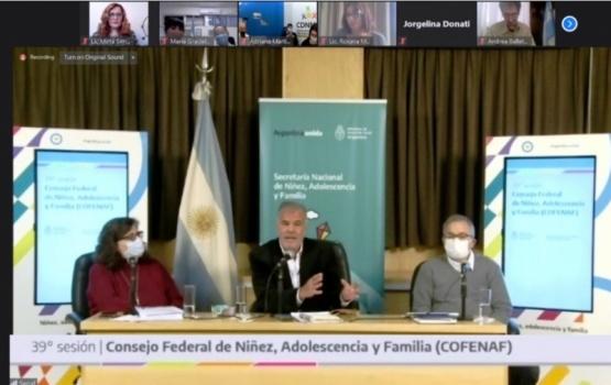 Chubut formó parte de la reunión del Consejo Federal de Niñez, Adolescencia y Familia
