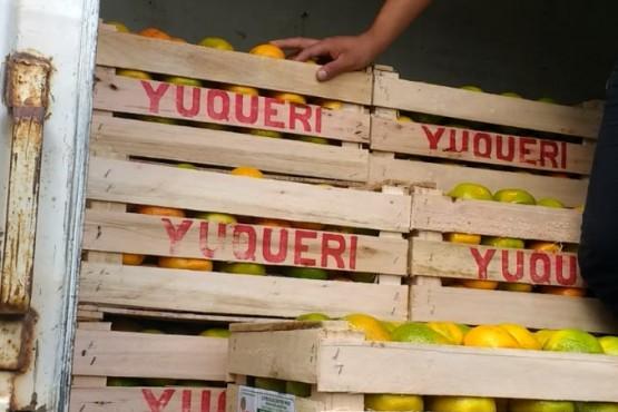 Las frutas y hortalizas fueron decomisadas.