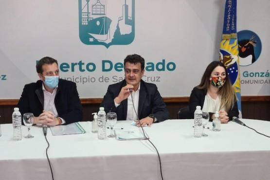 Reunión con el Intendente de Puerto Deseado.