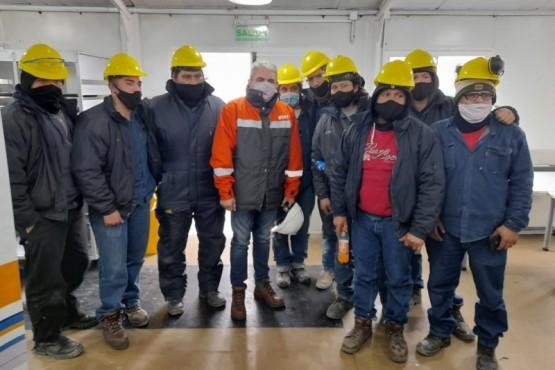 El interventor de YCRT, Aníbal Fernández, dialogó con los trabajadores.