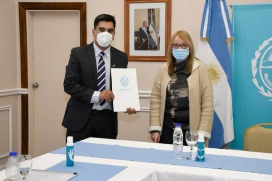 Alicia Kirchner junto al intendente.