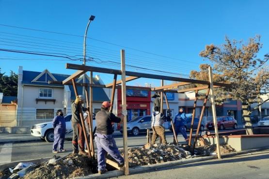 Municipio de Río Gallegos avanza con la renovación de la Avenida San Martín
