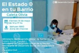"""Convocan  a vecinos a participar del programa """"El Estado en tu Barrio"""" de Caleta Olivia"""