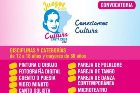 Abren la convocatoria para los Juegos Culturales Evita-Edición Virtual 2021