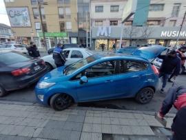 Triple choque en pleno centro de Río Gallegos