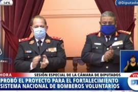 Media sanción a un proyecto para fortalecer el sistema nacional de bomberos voluntarios