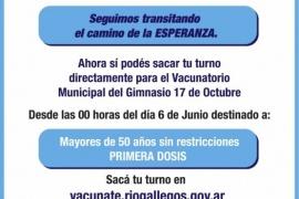 Río Gallegos habilita su propio sistema de turnos para el Vacunatorio Municipal
