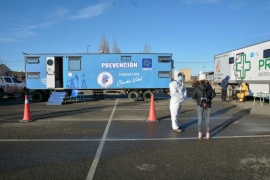 La Unidad Sanitaria Móvil continua hisopando en el predio de Carrefour