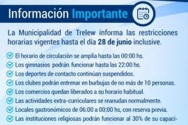 El horario de circulación se extiende hasta las 00 horas en Trelew