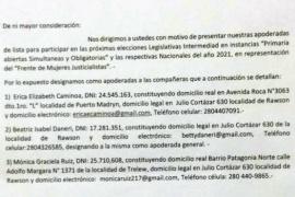 Frente de Mujeres Justicialista oficializó apoderadas para la presentación de una lista