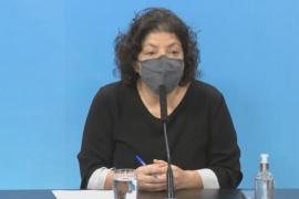 """Carla Vizzotti confirmó descenso de casos y ratificó que vacunas contra el coronavirus aplicadas """"no pierden su efecto"""""""