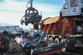 La compactadora  de chatarra ya se encuentra funcionando en Río Gallegos
