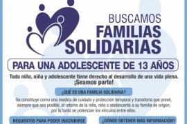 """Se busca """"familia solidaria"""" para adolescente de 13 años"""