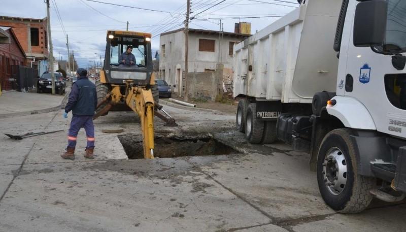 En Río Gallegos, se inició una obra destinada a evitar la inundación