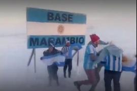 En la Base Marambio también se festejó el triunfo de la Selección