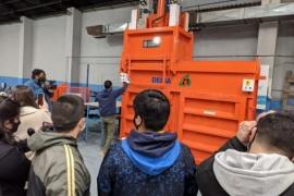 Personal municipal de Caleta Olivia inició la capacitación para operar maquinarías de reciclaje