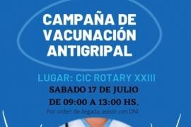 Este sábado continúan con la Campaña de Vacunación Antigripal en el CIC Rotary