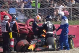 Max Verstappen criticó a Lewis Hamilton luego del accidente