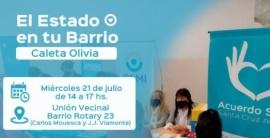 """El estado en tu barrio"" llegó a Caleta Olivia"
