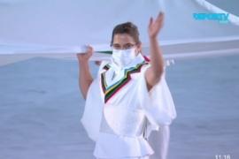 Tokio 2020: Paula Pareto sorprendió a todos y porto la bandera olímpica
