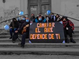 Un mensaje de esperanza en pleno centro de Río Gallegos