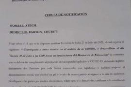 El Gobierno del Chubut convocó para el viernes a los gremios docentes