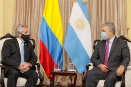 Alberto Fernández se reunió en Lima con su par de Colombia, Iván Duque Márquez