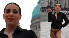 Cinthia Fernández cerró su campaña bailando en el Congreso y fue denunciada