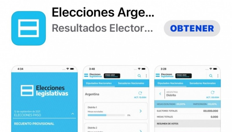 The Government launched an app to track the results of the PASO
