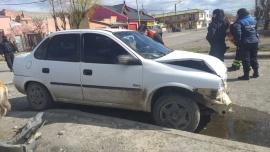 Dos chicos llevados al hospital tras fuerte choque en Río Gallegos