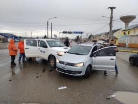 Dos personas llevadas al hospital tras fuerte choque en el cruce de San Martín e Italia