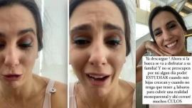 """""""Me dicen ignorante"""", Cinthia Fernández se quebró al hablar de su educación y las críticas que recibe"""